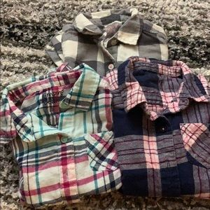 Size 5T flannel girls shirts